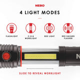 NEBO SLYDE+ 400 Lumen 4x Zoom COB Work Light (6783) with Dimmable Beam - Gray
