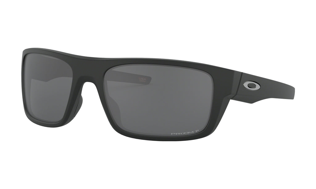 Oakley Drop Point Sunglasses Prizm Black Polarized Lens Matte Black Frame Standard Fit - OO9367-0860