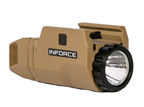 InForce APLc Compact WML Weapon Mounted White Light Auto Pistol 200 Lumens (Not Glock) - Tan