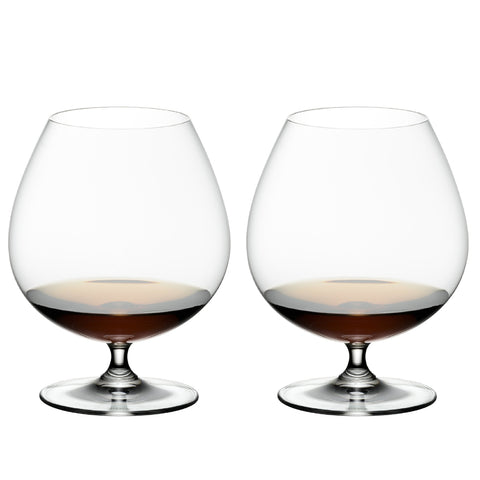 Riedel Bar Vinum Brandy Crystal Glass, Set of 2