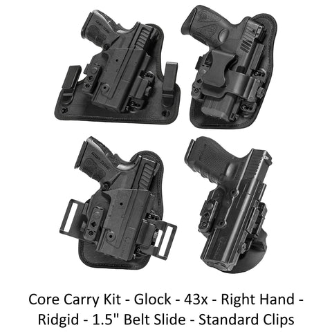 Alien Gear Holsters Core Carry Kit Glock 43x Right Hand