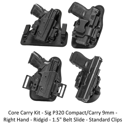Alien Gear Holsters Core Carry Kit Sig P320 Compact/Carry 9mm - Right Hand