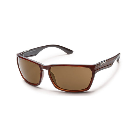Suncloud Cutout Medium Fit Sunglasses Burnished Brown Frame with Polar Brown Lens