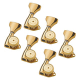 Hipshot Guitar Tuner Upgrade Kits (3+3 Headstocks) Grip-Lock Open Gold