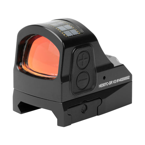 Holosun HE507C-GR V2 Open Reflex Sight Green Multi-Retical 2 MOA Dot and 32 MOA Circle Solar Power Sight