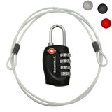 Travel Lock with Steel Cable TSA Approved