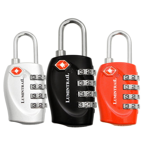 Travel Lock with Steel Cable TSA Approved 4 Digit Combination
