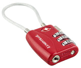 TSA Approved Cable Travel Lock - Red
