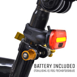 Lumintrail Rear Bike Light Bright Red LED Taillight 2 Light Modes for All Bikes Easy To Install