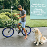 Lumintrail Dog Bike Leash Attachment for Hands Free Dog Walking and Exercise - Leash Included