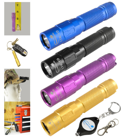 130 Lumen LTK-10 LED Pocket Keychain Flashlight with Magnetic Tail-cap