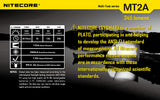 Nitecore MT2A 345 lumens LED Multi-Task Flashlight