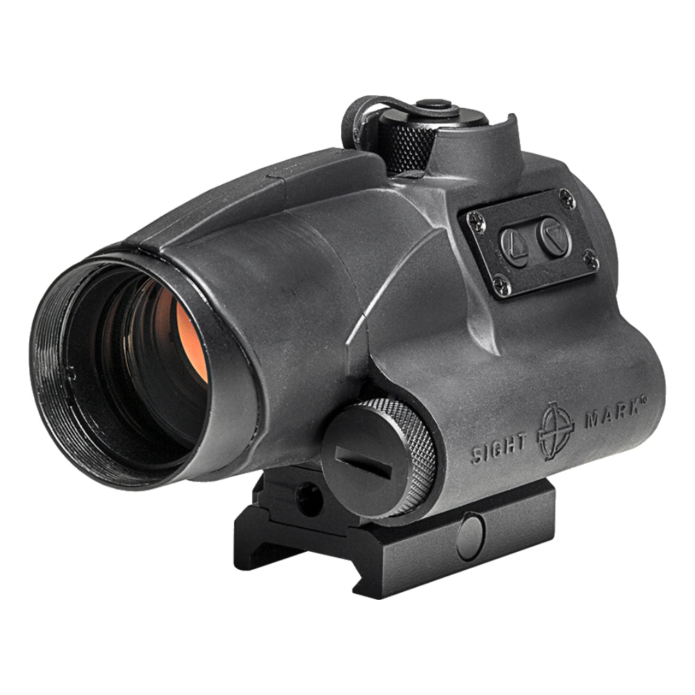 Sightmark Wolverine 1x28 FSR Red Dot Sight 2 MOA Dot Reticle - Black