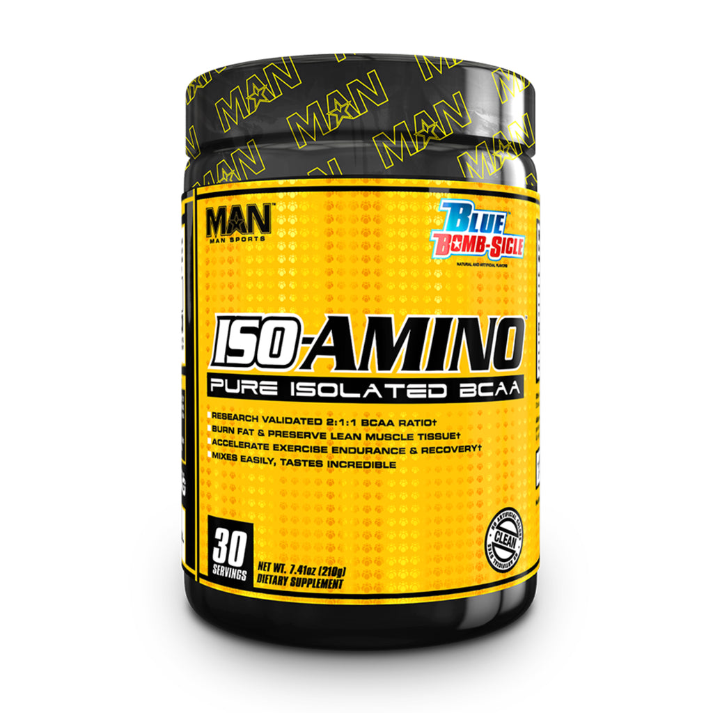 Man Sports ISO-Amino Pure Isolated BCAA's - 30 Servings