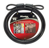 Master Lock 72PDF Heavy Duty 15ft Security Cable with Looped Ends