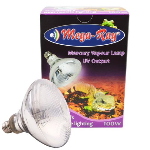 Mega Ray 100W Mercury Vapour Lamp UV Output