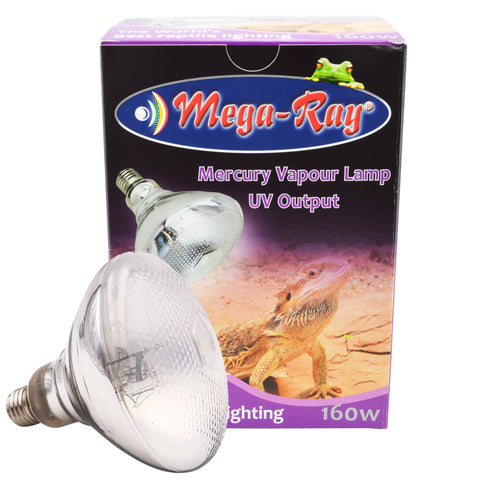 Mega Ray 160W Mercury Vapour Lamp UV Output