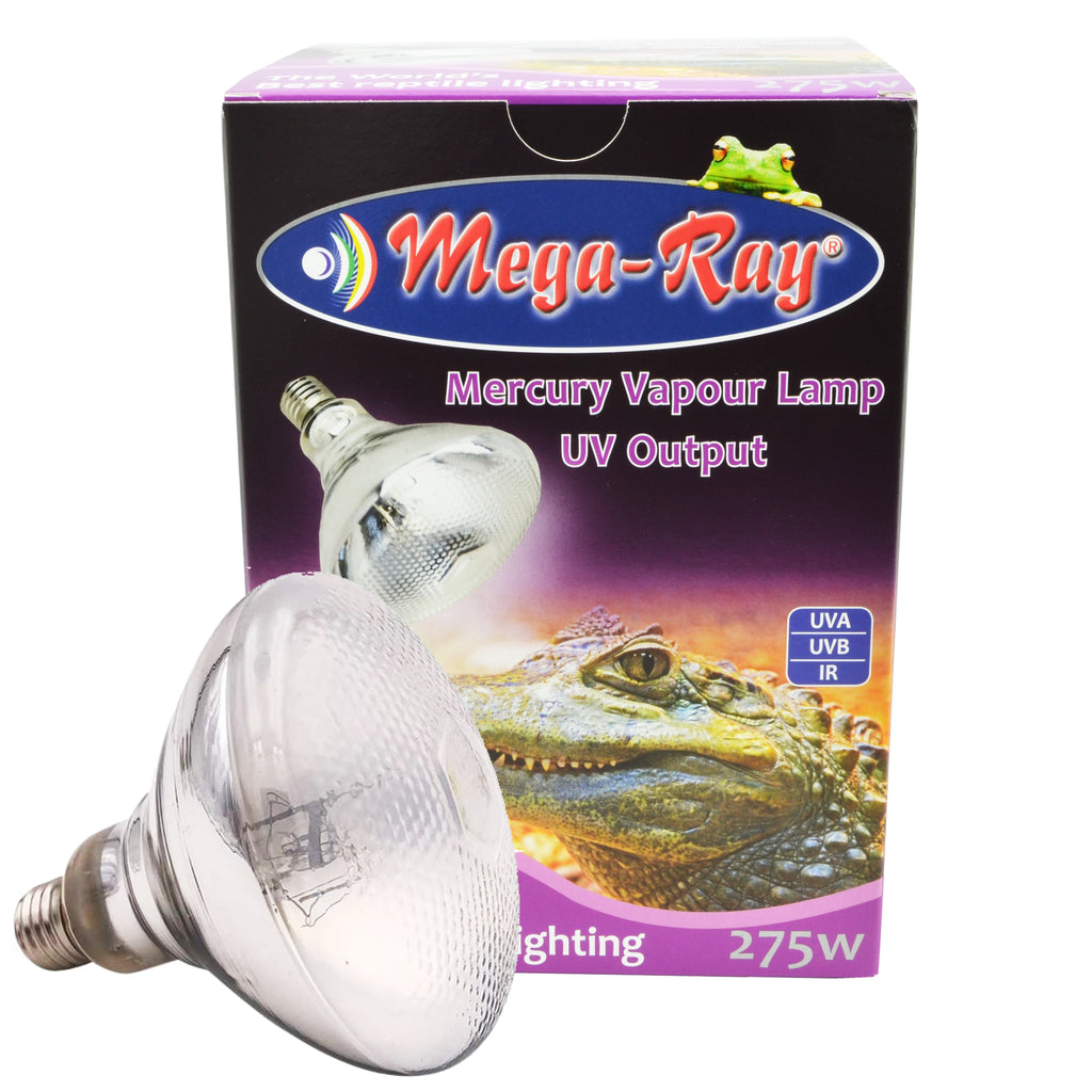 Mega Ray 275W Mercury Vapour Lamp UV Output