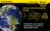 NITECORE NL147 750mAh Protected Li-ion 14500 Rechargeable Battery