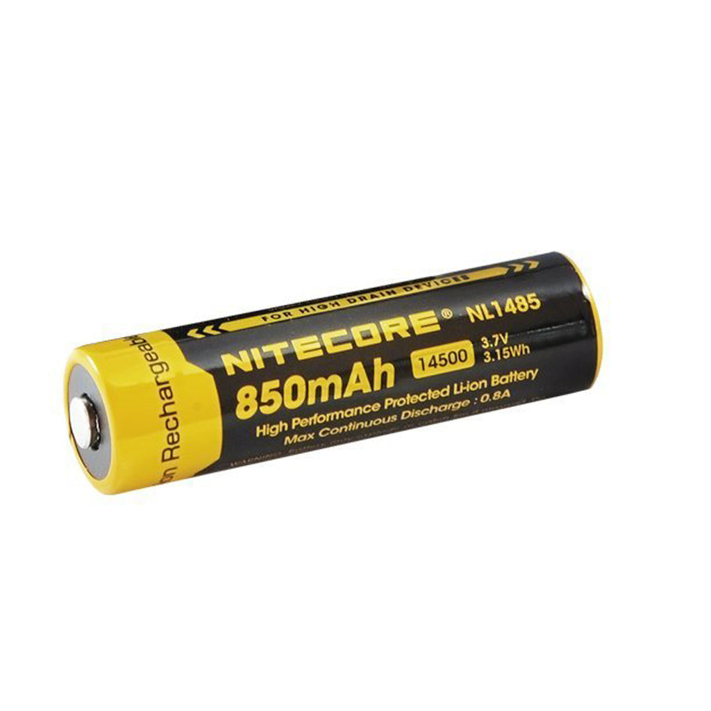 NiteCore NL1485 14500 850mAh Li-on Rechargeable Battery