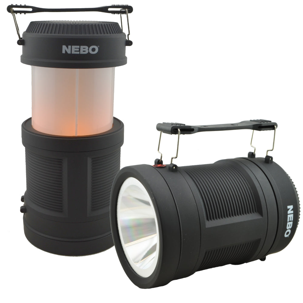Nebo Realistic Flame Pop-Up Lantern and Spot Light 300 Lumen LED