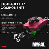 Nebo Mypal Rechargeable 400 Lumen Flashlight and Personal Alarm