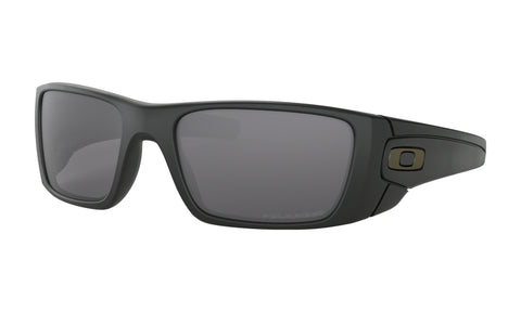 Oakley Fuel Cell Sunglasses Grey Polarized Lens Matte Black Frame Standard Fit - OO9096-05