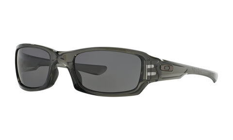 Oakley Fives Squared Sunglasses Warm Grey Lens Grey Smoke Frame Standard Fit - OO9238-05