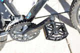 Bike Pedals: Flat Alloy Platform for MTB or BMX Mountain Bikes