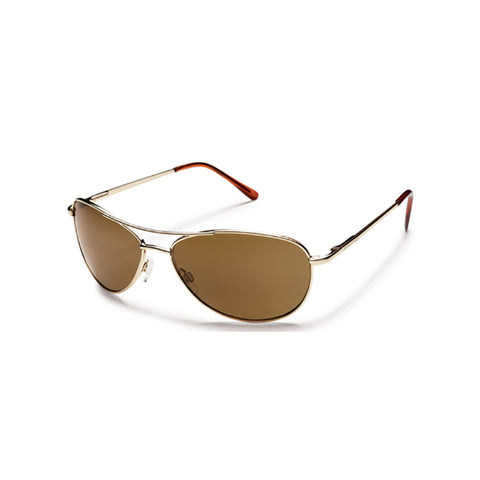 Suncloud Patrol Medium Fit Sunglasses Gold Frame with Polar Brown Lens