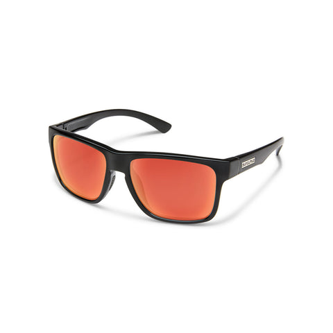 Suncloud Rambler (Medium Fit) Black Frame with Polar Red Mirror Lenses