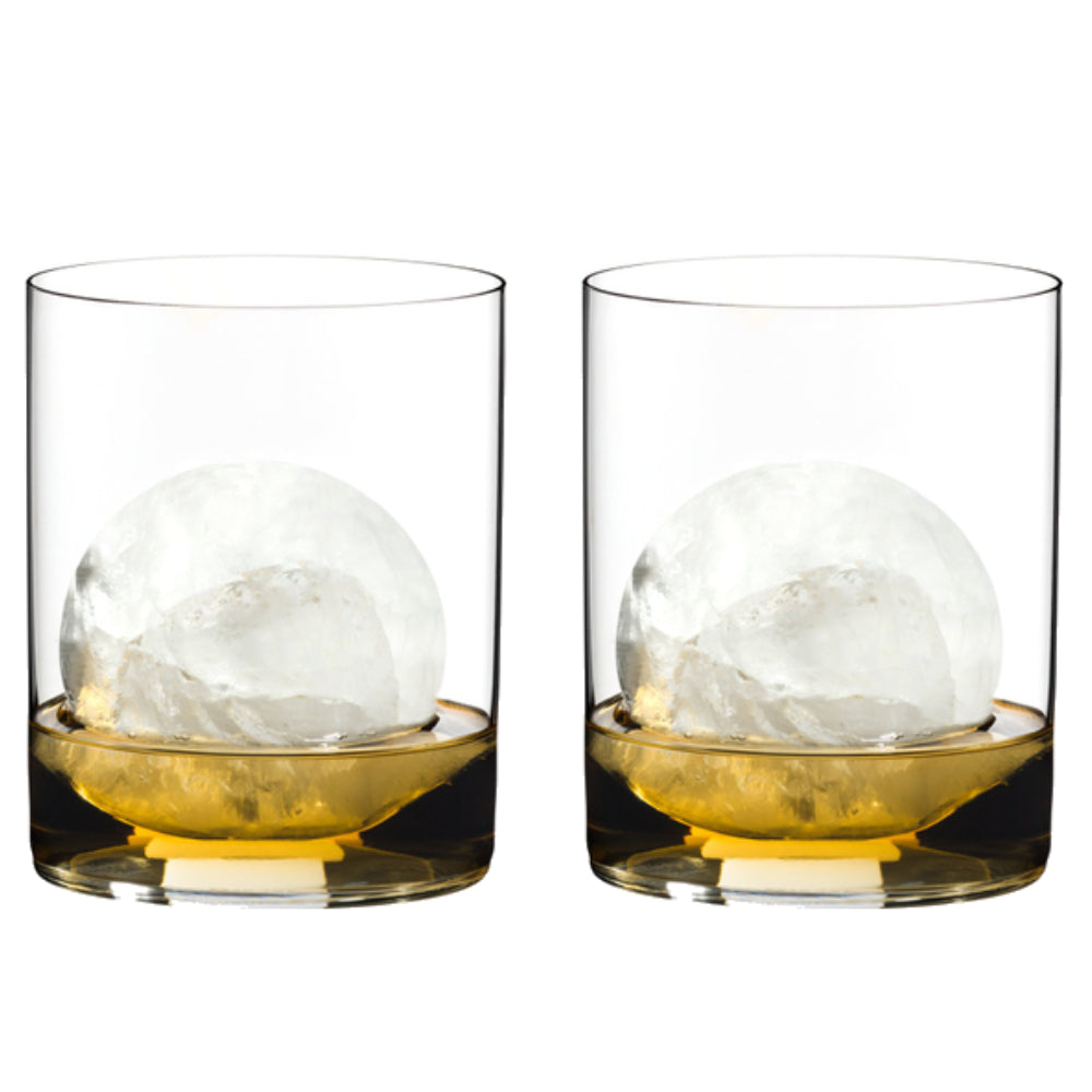 Riedel 0414/02 O Wine Tumbler Whisky, Set of 2 Glasses, Clear