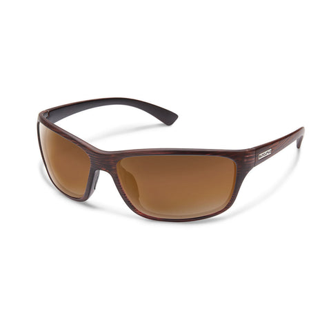 Suncloud Sentry Medium Fit Sunglasses Burnished Brown Frame with Polar Brown Lens