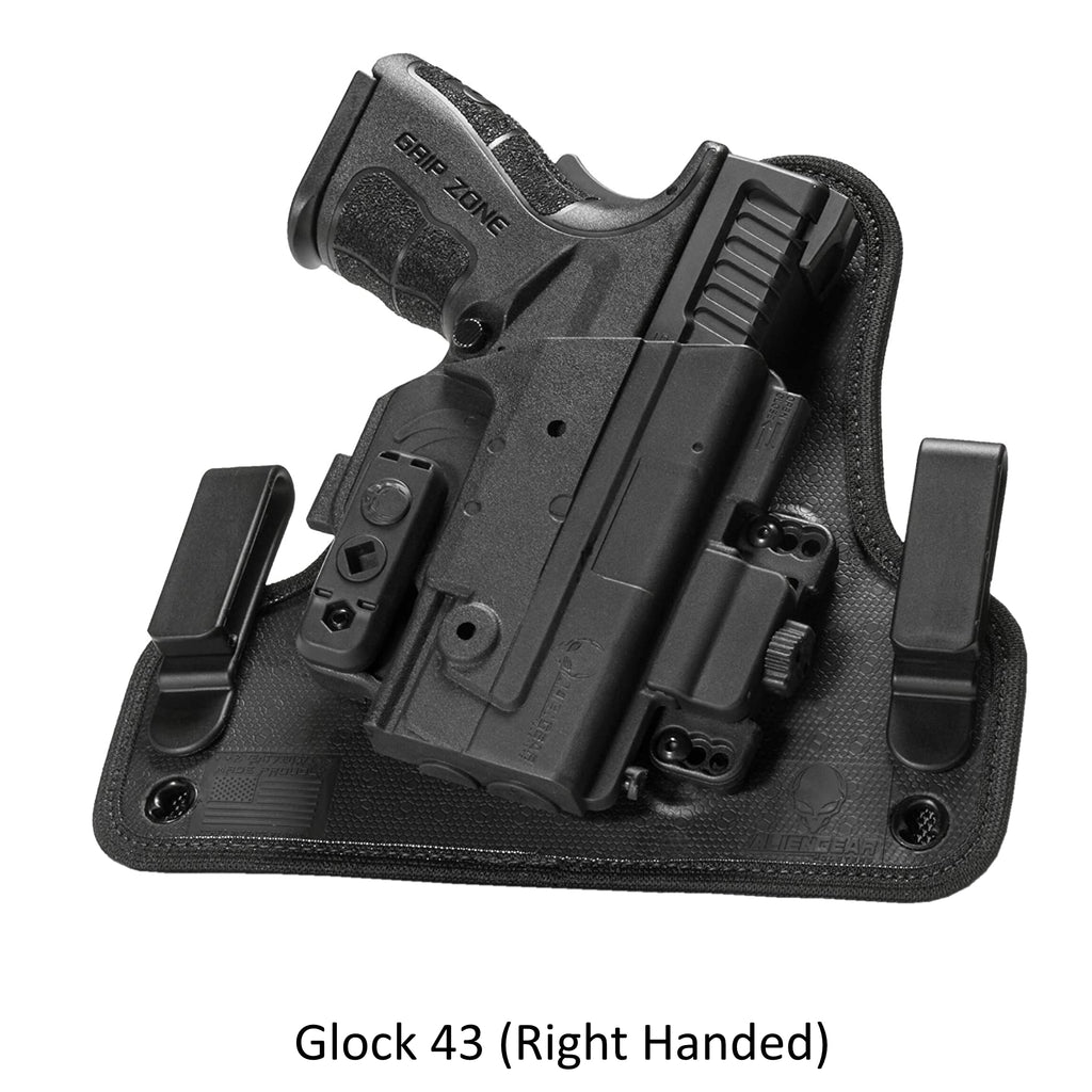 Alien Gear Holsters Glock - 43 ShapeShift 4.0 IWB Holster Right Handed