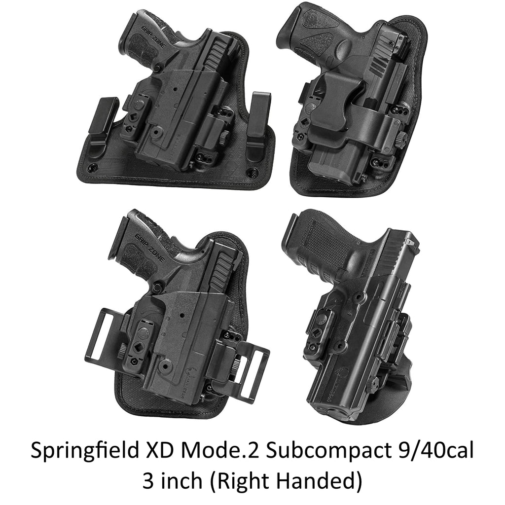 Alien Gear Holsters Springfield XD Mod.2 Subcompact 9mm/40cal 3 inch ShapeShift Core Carry Pack - Right Handed