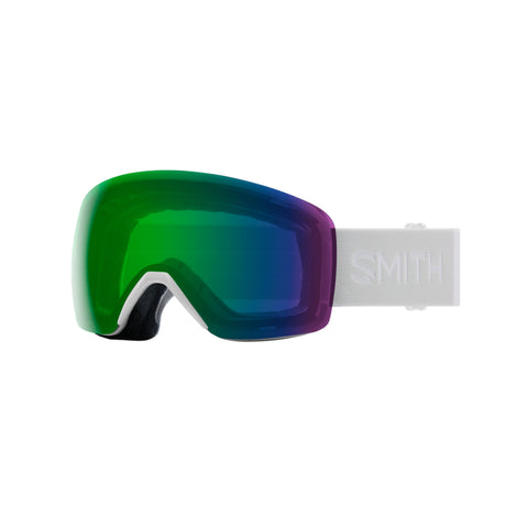 SMITH Skyline Snow Goggles White Vapor with ChromaPop Everyday Green Mirror