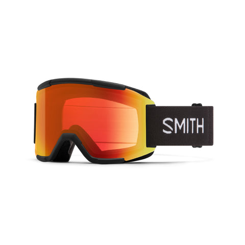 SMITH Squad Snow Goggles Black with Chromapop Everyday Red Mirror