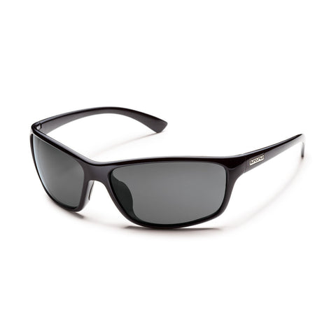 Suncloud Sentry Medium Fit Black Frame with Polar Gray Lens