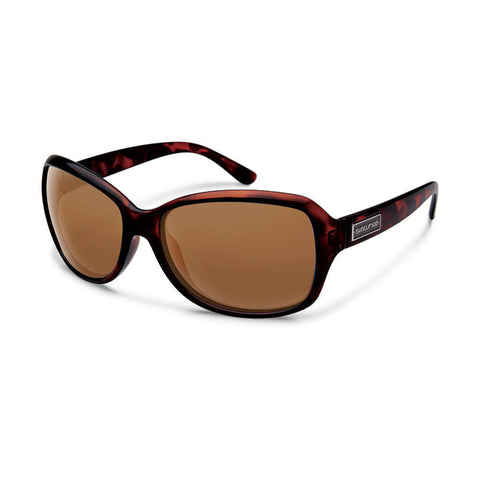 Suncloud Mosaic Medium Fit Sunglasses Tortoise Frame with Polar Brown Lens