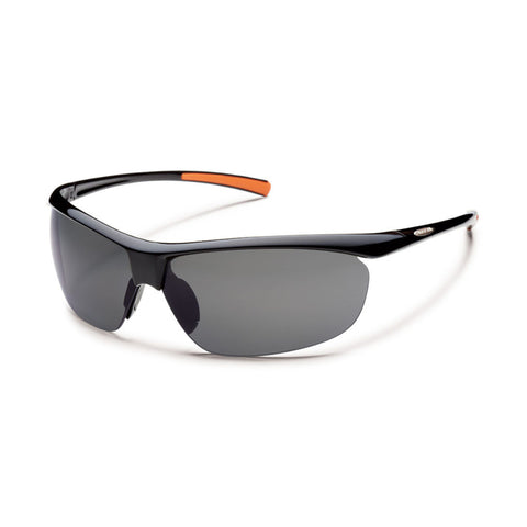 Suncloud Zephyr Medium Fit Sunglasses Black Frame with Polar Gray Lens