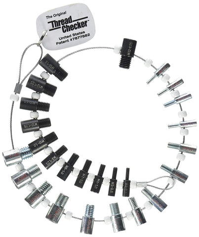 Thread Checker SWTC-26 Nut & Bolt (Inch & Metric) 26 male / female gauges -14 inch & 12 metric (7877882)