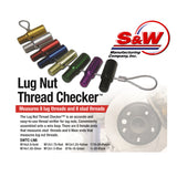 S&W Color Coated Lug Nut Thread Checker Set SWTC-LN8