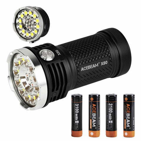 Acebeam X80 12*CREE XHP50.2 led 25000 lumens rescue searching led Flashlight