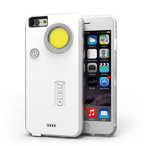 Nebo CaseBrite For IPhone 6 Plus & 6s Plus - White - 200 Lumens