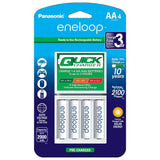 Panasonic eneloop Individual Battery Quick Charger w/4 AA Rechargeable Batteries