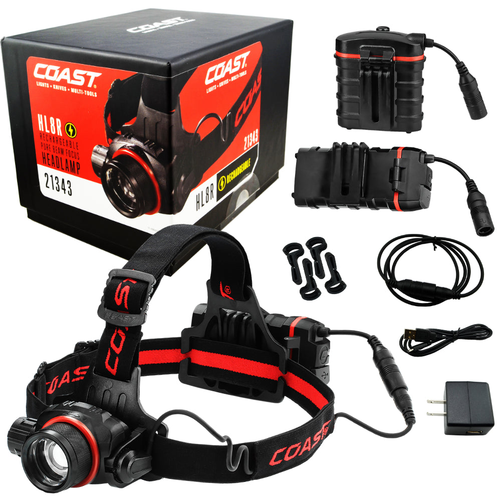 Coast HL8R Rechargeable Pure Beam Focus Headlamp 21343