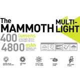 Hybridlight REALTREE Mammoth Multi Light Charger Solar / Rechargeable 400 Lumens
