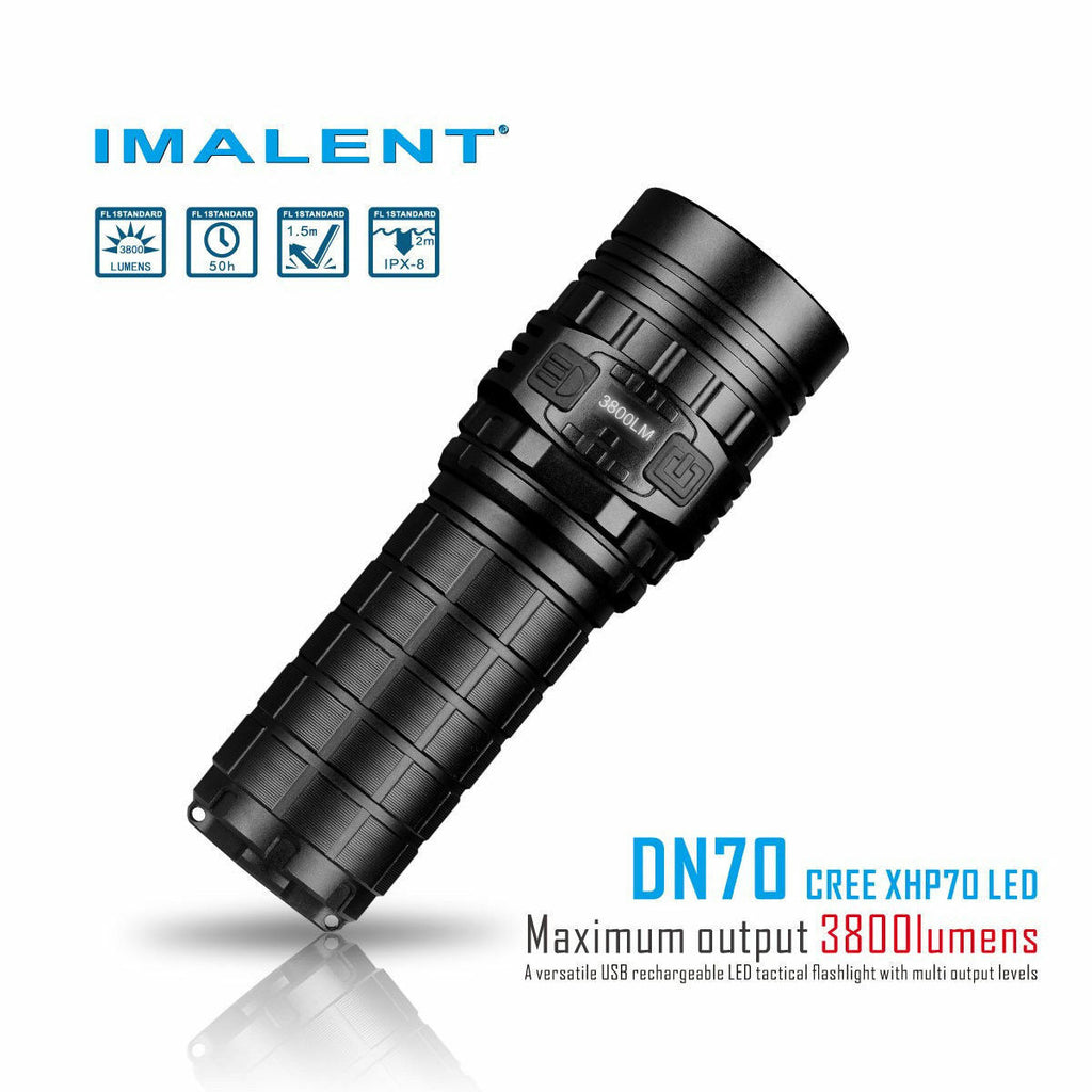 IMALENT DN70 3800 Lumen Rechargeable Flashlight with 26650 4500mAh battery