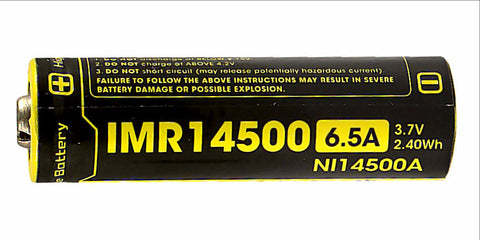 Nitecore 650mAh Li-Mn IMR 14500 Rechargeable Battery