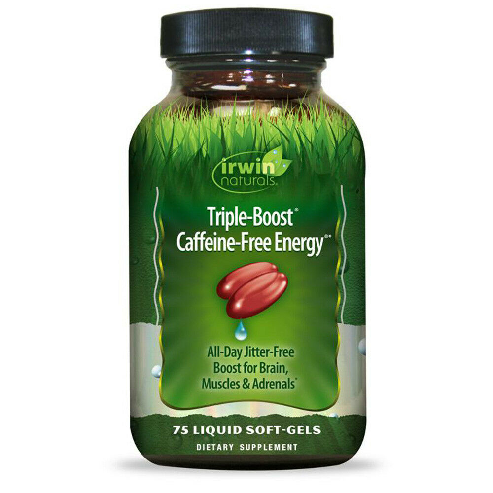 Irwin Naturals Triple-Boost Caffeine-Free Energy, 75 Ct